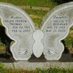 Памятник из гранита со стелой в форме бабочки
